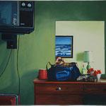 Spiegel, 1982, Öl/LW, 113 x 90 cm