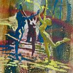 Drei Grazien, 1990,  Mischt./LW,53 x 67 cm