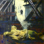 Baustelle, 1988, Mischt./LW, 120 x 160 cm, 1.300,--€