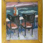 Stühle und Ketchup, 1984, Hgl, 67 x 78 cm, 680,-€