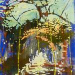Kreuzgang Alfabia, 1990, Mischt./LW, 77 x 102