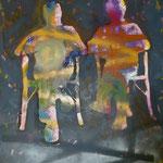 Freunde, 1994, Mischt.LW, 115 x 150 cm