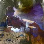 Frau mit Buch, 1088, Mischtechnik/LW, 120 x 160 cm, 1.300,--€