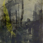 Ordnung machen, DGN, 1991, Mischt./Fotoemulsion/LW, 100 x 100 cm