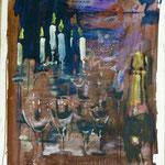 Fest, Ölpapier, 1989, 80 x 110 cm