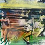Frauen am Wasser, 1989, Mischt./LW, 90 x 80 Privatbesitz