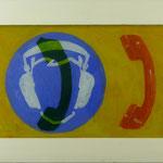 Telefon, 2007, Hgl, 50 x 74 cm,  450,--€