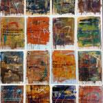 Falsche Briefe, 1989, Serie in 16 Teilen, je 79 x 107 cm
