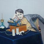 Edison, 1982, Öl/LW, 160 x 135 cm, Privatbesitz