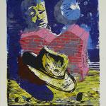 O.T., Farblinol, 1989, Aufl. 7, 53 x 79 cm