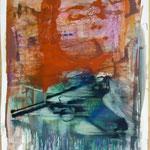 O.T. Ölpapier, 1988, 52 x 72 cm