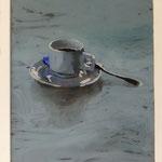 Tasse blau, 2003, Hgl, 44x57 cm, 280,-€