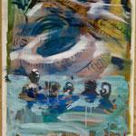 Pool, Ölpapier, 1988, 60 x 78 cm