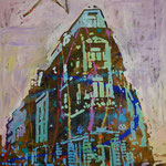 Eckhaus, 1990, Mischt./LW, 106 x 147 cm , 800,--€