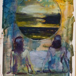 Mal-Lorca, Ölpapier, 1989, 79 x 105 cm