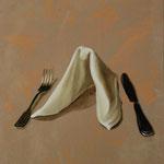 Serviette, 2005, Mischtechnik auf LW, 66 x 98 cm