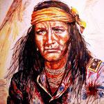 J'ai copié là le magnifique portrait d'Indien réalisé à l'origine par Hampton.