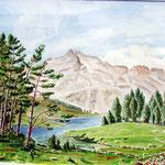 Le Lac d'Aumar et le Néouvielle  1