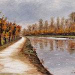 Bon Encontre : le canal après l'ondée...