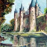 Il y a longtemps... j'ai oublié les noms du Chateau et du Peintre