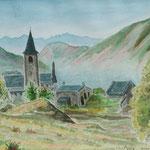 Ariège : village d'Ercé