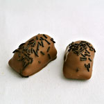 Le Carioca: Crème vanille ou café sur une base de nougatine.