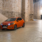 Nissan Micra 2017 orange racing