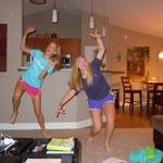 wir haben probiert uns beim springen zu Fotografieren