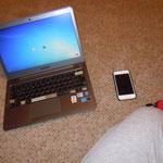 meine Beschägtigung den ganzen Tag. Ich wäre verloren ohne meinen Ipod and Laptop.