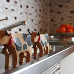 In der Küche sind die Kühe los