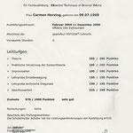 Zeugnis geprüfte ESTODA(R)-Lehrerin