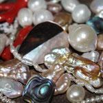 Nacres, perles, corail