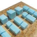 Habitat participatif - Jardins du Laü - Maquette d'esquisse