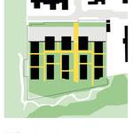 Habitat participatif - Jardins du Laü - Schéma d'esquisse