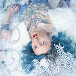 Fantasyfotografie, fantasievoll inszeniert, inszenierte Peoplefotografie, Icequeen, Schneekönigin, Eisprinzessin, Eiskönigin