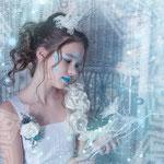 Eisprinzessing, Eiskönigin, Elsa, Fantasyshooting, inszenierte Fotografie, Kinderfoto, verkleiden, Fasching, Kostüm, Fantasy, Märchen