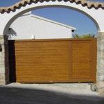 puerta corredera panel acanalado