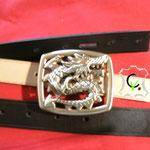 B3, boucle à piquot de 40mm laiton poli dragon chinois
