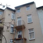 Hinterhof-Fassade – Wärmedämmung