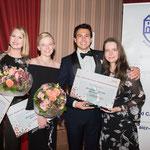RotY 2018 Top3 und die Präsidentin AICR Deutschland