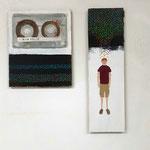 """""""Holy Ghost #11/ King Shiloh Cassette"""", 22x20 cm, oil on panel"""