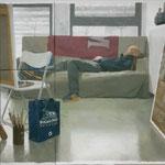 self portrait in studio (Brigham Young), 120x200 cm, 2014