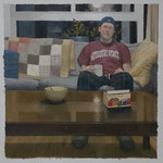 Domestic Scene / Celestial. 100x100 cm