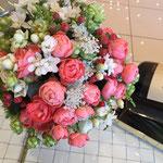 ウェディング ブーケ ブライダル 花ひろ 福井 結婚式 クラッチ ナチュラル ピンク