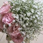 ウェディング ブーケ ブライダル 花ひろ 福井 結婚式 クラッチ ナチュラル かすみ草 小花
