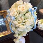 キャスケードブーケ 福井 鯖江 花屋 花ひろ ウェディング ブライダル 結婚式 披露宴 挙式 ショートキャスケード ティアドロップ