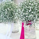 クラッチブーケ 花ひろ ウェディング オシャレ 新婦 福井 花屋 結婚式 ブライダル 挙式 披露宴 かすみ草