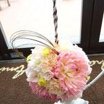 バックブーケ 福井 鯖江 花屋 花ひろ ウェディング ブライダル 結婚式 披露宴 挙式 ボールブーケ 和装 ブーケ