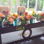 ウェディング装飾 花屋 花ひろ 福井 鯖江 結婚式 ブライダル装花 オリジナルウェディング 会場装花 オシャレ wedding flower