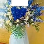 コンサート 御祝スタンド花 ハート型 フェニックスプラザ 青バラ
